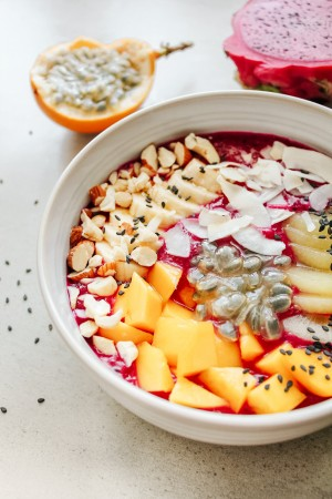 Drakono vaisiaus pusryčių dubenėlis